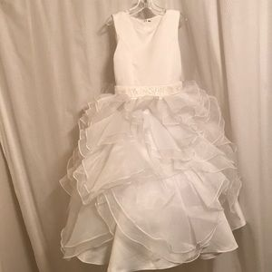 Other - Girls white special occasion tea length dress